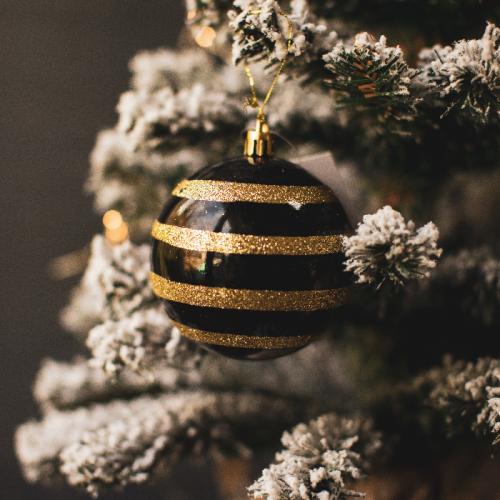 Новогодний шар «Black-gold»