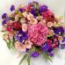 Цветочная корзина из сезонных цветов «Акварель»