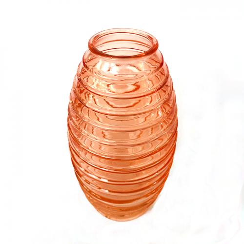 """Стеклянная оранжевая ваза """"Лайт"""""""