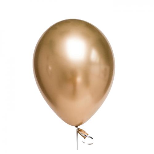 Хромированный латексный воздушный шар с обработкой Hi-Float